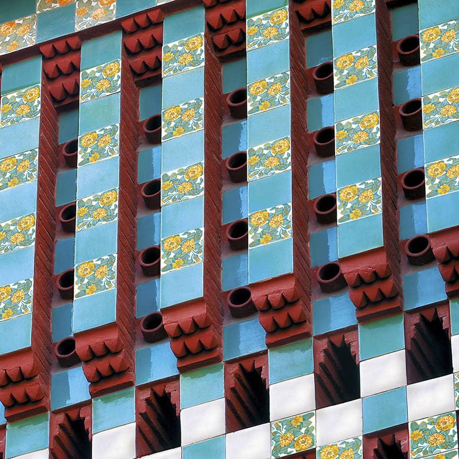 Exterior Casa Vicens de Antoni Gaudí