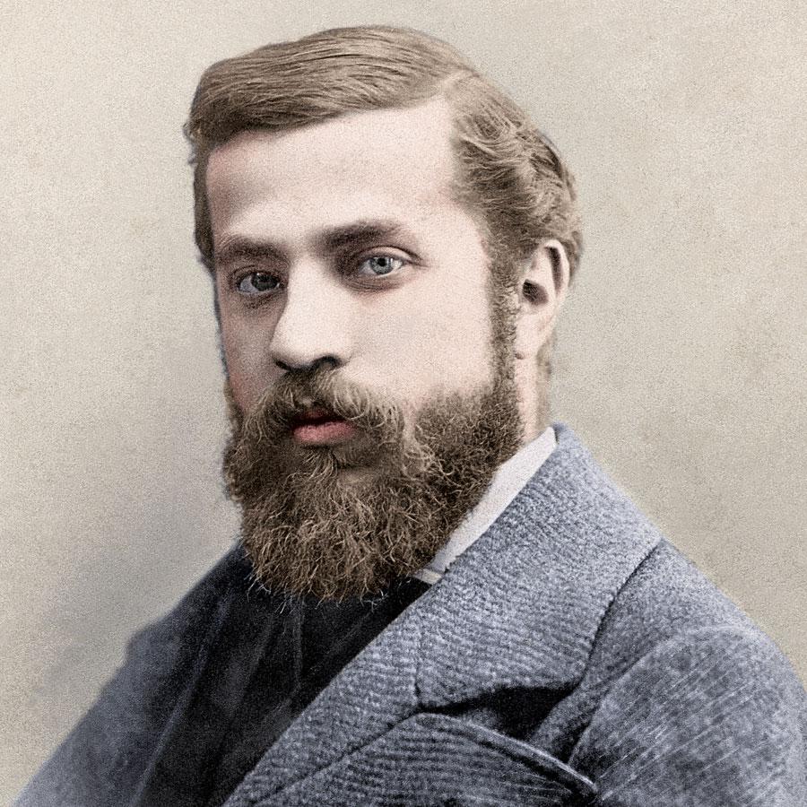 Retrato de Antoni Gaudí