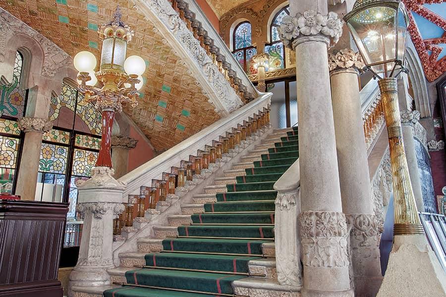 Escalera del Palau de la Música de Barcelona