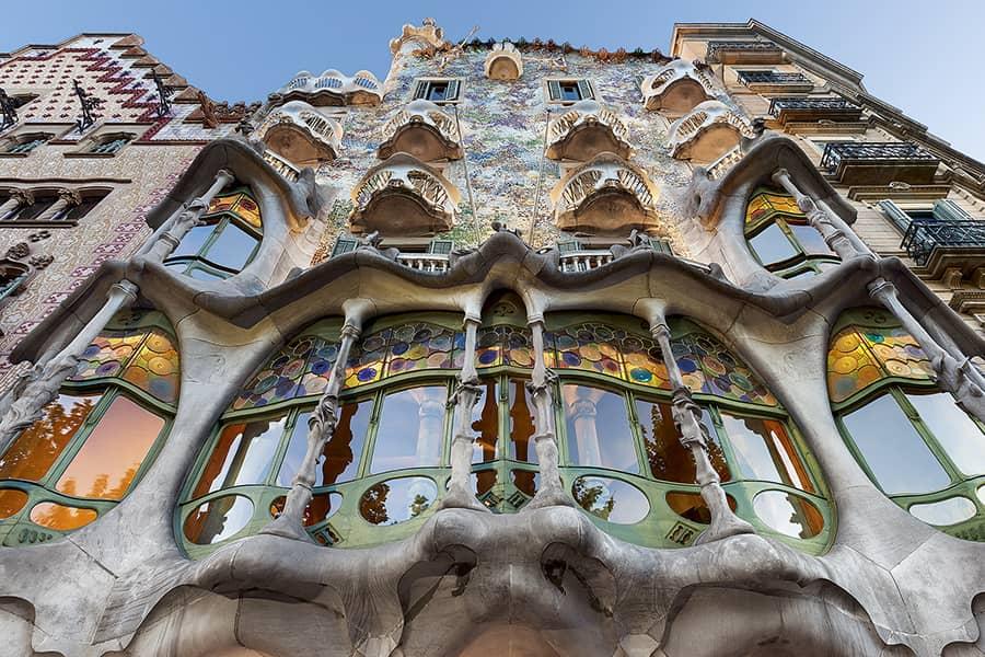 Fachada de la Casa Batlló de Antoni Gaudí