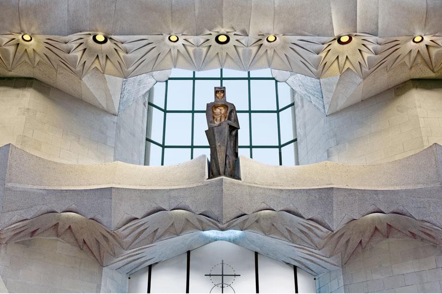 Fachada de la Gloria de la Sagrada Familia de Gaudí