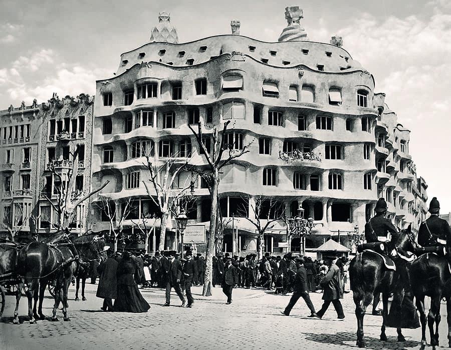 Facade of La Pedrera by Antoni Gaudí