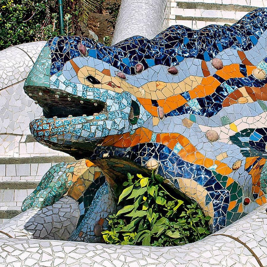 Dragón del Park Guell, de Antoni Gaudí