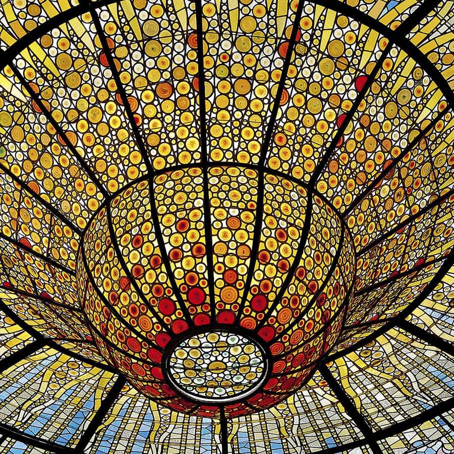 Cúpula vidriera del Palau de la Música de Barcelona
