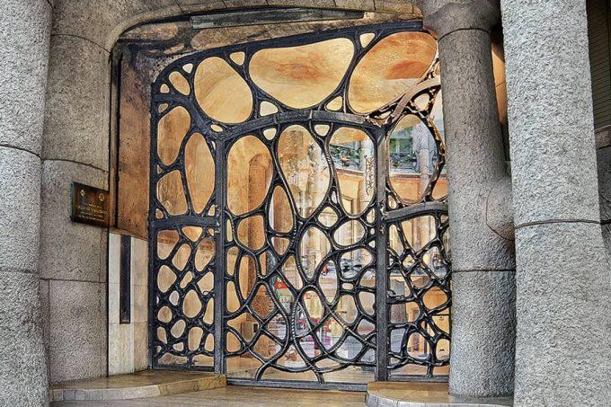 Door of La Pedrera by Antoni Gaudí