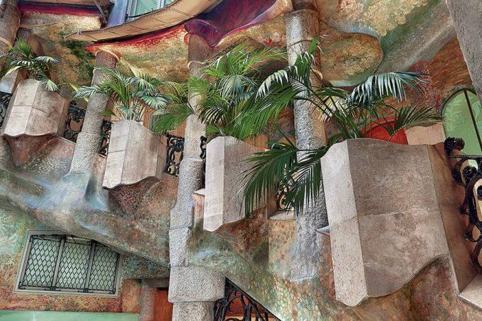 Stairs of La Pedrera by Antoni Gaudí
