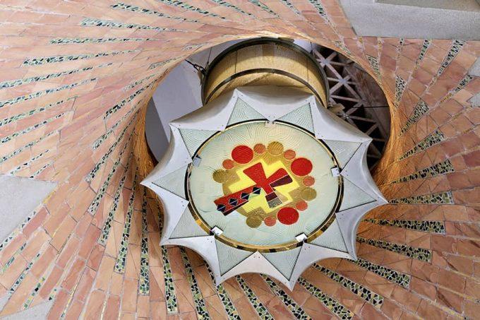 Detalle de la decoración interior de la Sagrada Familia