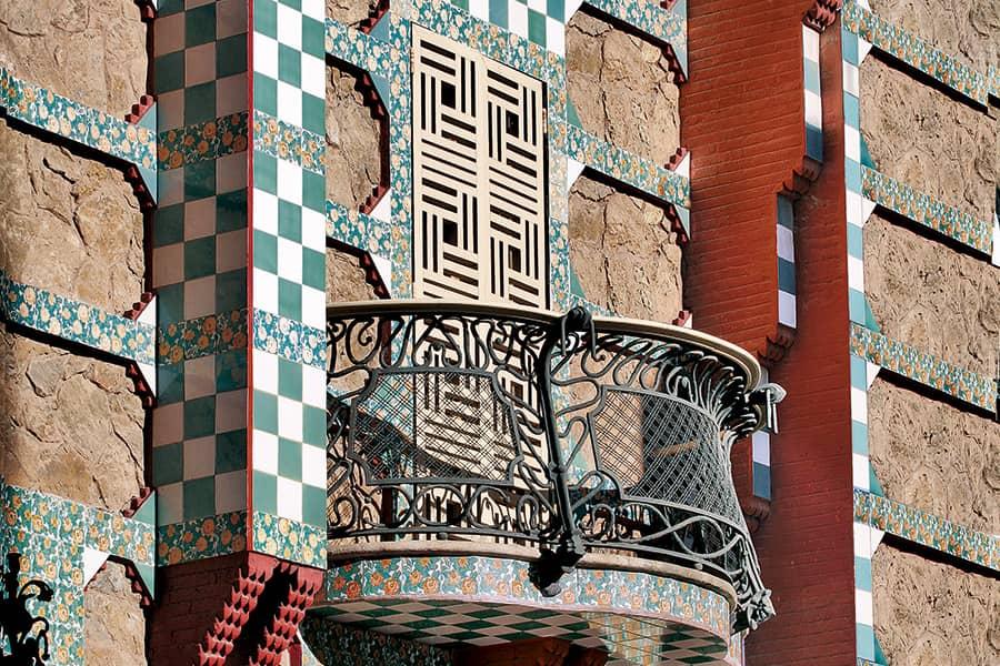 Balcony of Casa Vicens, by Antoni Gaudí
