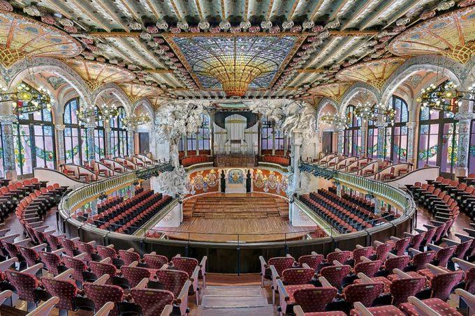 Sala de conciertos del Palau de la Música de Barcelona