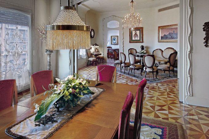 Living room of La Pedrera by Antoni Gaudí