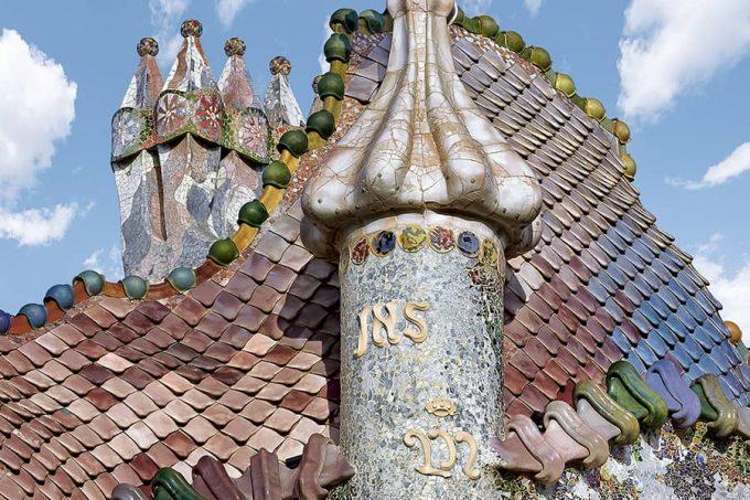 Tejado de la Casa Batlló de Antoni Gaudí