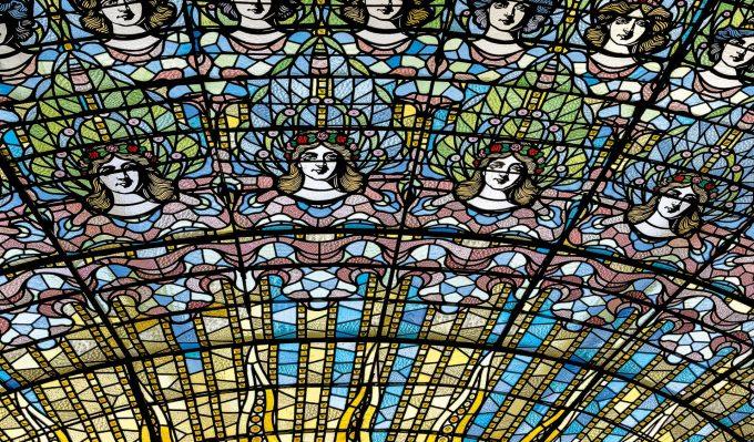 La claraboya del Palau de la Música de Barcelona