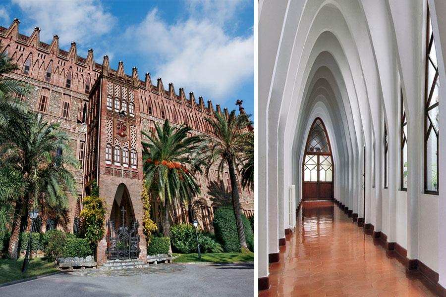 Fachada del Colegio Teresiano de Antoni Gaudí