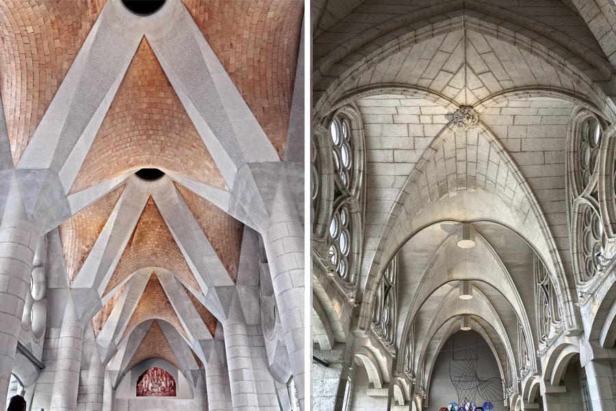 The cloister of the Sagrada Familia, by Antoni Gaudí