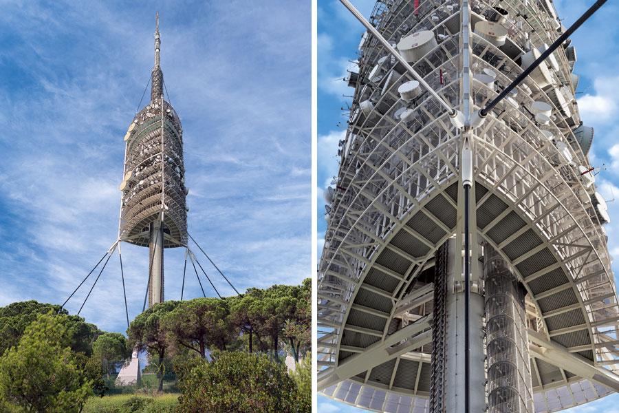 Torre de Collserola en Barcelona, torre de comunicaciones