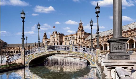 Plaza De España Sevilla Dosde Publishing Libro Azulejos Andaluces