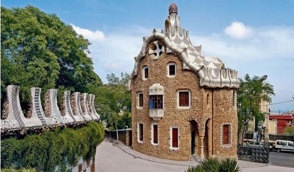 Casa Del Guarda Entrada Park Guell Gaudi Dosde Publishing