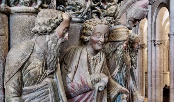 Escultura Profeta Daniel Portico De La Gloria Catedral De Santiago Compostela Dosde Publishing