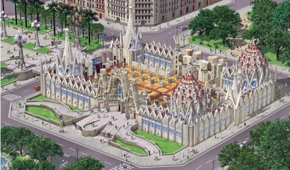 Infografia Estructura Sagrada Familia Gaudi Barcelona Dosde Publishing