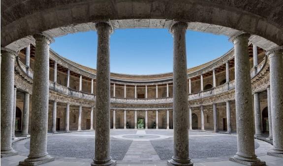 Patio Interior Palacio Carlos V Alhambra De Granada Libro Dosde Publishing