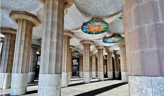 Sala Hipostila Park Guell Antoni Gaudi Libro Bolsillo Dosde Publishing