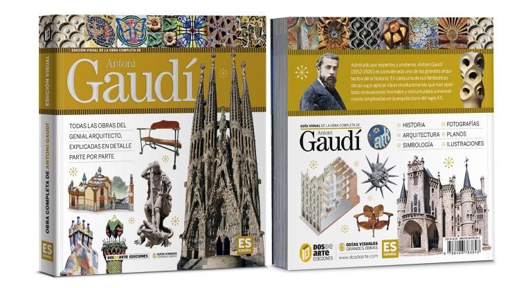 Portada Contraportada Antoni Gaudi Libro Español Dosde Publishing