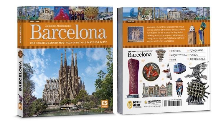 Portada Contraportada Barcelona Guia Visual Ciudad Libro Español Dosde Publishing