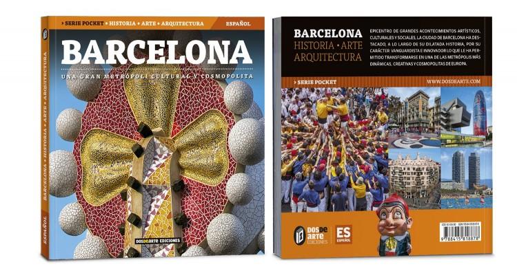 Portada Contraportada Barcelona Libro Bolsillo Español Guia Ciudad Dosde Publishing