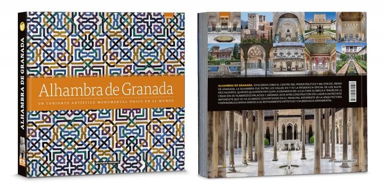 Portada Contraportada Libro Alhambra De Granada Edicion Deluxe Español Dosde Publishing