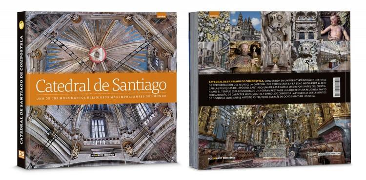 Portada Contraportada Libro Catedral De Santiago Compostela Deluxe Español Dosde Publishing
