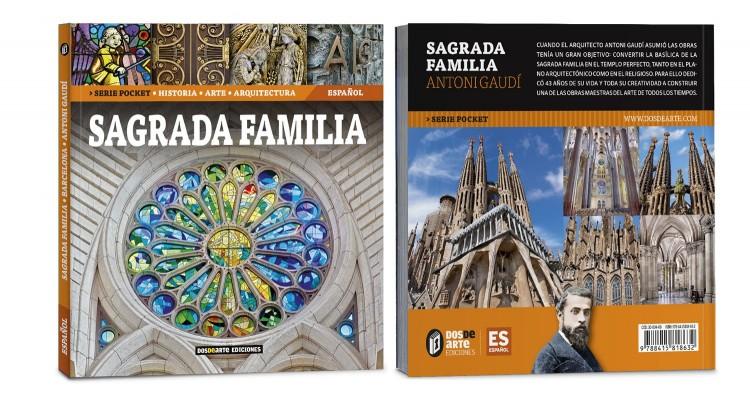 Portada Contraportada Sagrada Familia Gaudi Libro Bolsillo Español Edicion Pocket Dosde Publishing