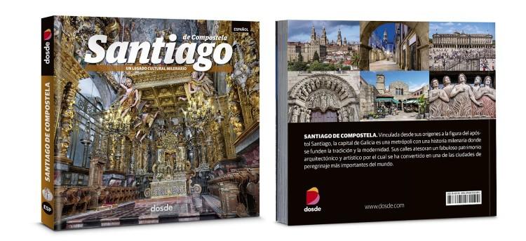 Portada Contraportada Santiago De Compostela Libro Foto Español Dosde Publishing