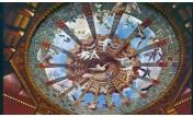 Techo pintado en El Capricho de Gaudí, situado en Comillas