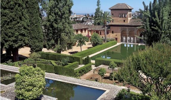 Jardines El Partal Palacio Del Portico Alhambra De Granada Libro Dosde Publishing