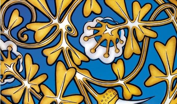 Palacio Guell Mosaico Flores Dosde Publishing