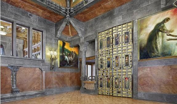 Palacio Guell Salon Interior Dosde Publishing