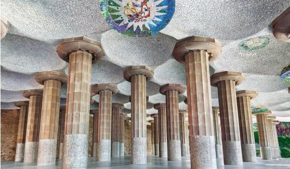 Sala Hipostila Park Guell Gaudi Dosde Publishing