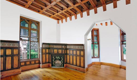 Salon Interior Madera El Capricho Gaudi Dosde Publishing
