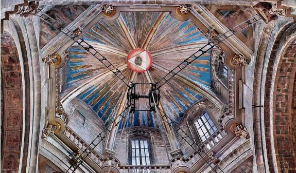 Triangulo Ojo Dios Cupula Catedral De Santiago Compostela Dosde Publishing