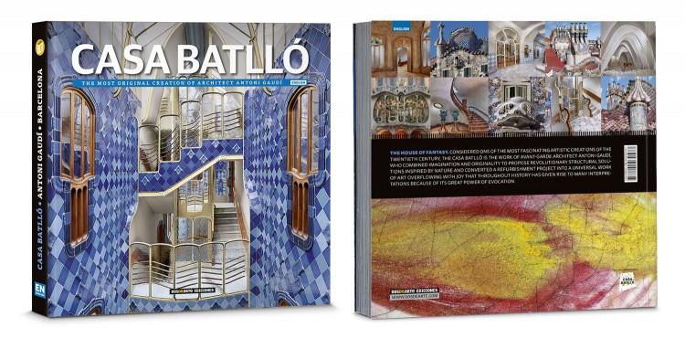 Cover Back Casa Batllo Gaudi Barcelona English Book Deluxe Edition Dosde Publishing
