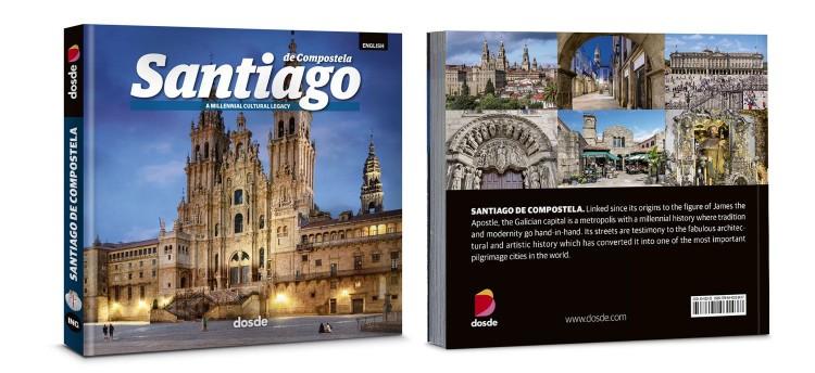 Cover Back Santiago De Compostela Book Photo English Dosde Publishing