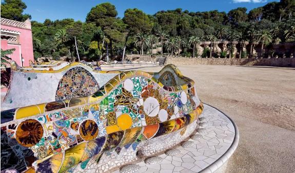 Banco Plaza Park Guell Gaudi Dosde Publishing