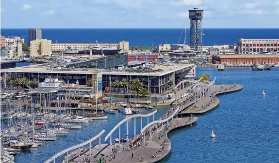 Barcelona Puente Maremagnum Puerto Dosde Publishing