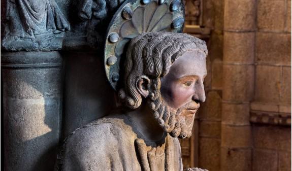 Escultura Santiago Apostol Catedral De Santiago Compostela Dosde Publishing