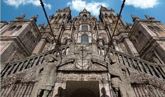 Fachada Obradoiro Catedral De Santiago Compostela Dosde Publishing