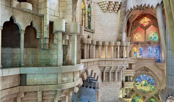 Interior Vidrieras Colores Basilica Sagrada Familia Gaudi Dosde Publishing