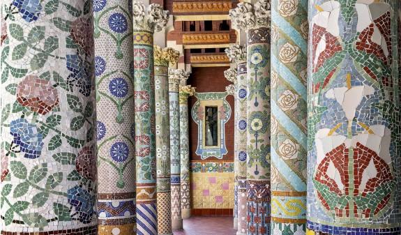 Mosaicos Ceramica Palau De La Musica Barcelona Arquitectura Modernista Modernismo Dosde Publishing