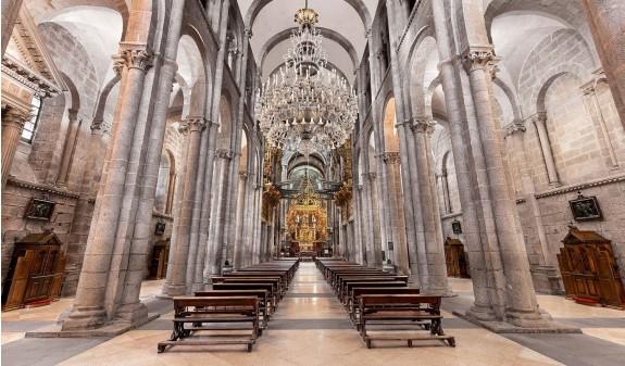 Nave Central Catedral De Santiago Compostela Dosde Publishing