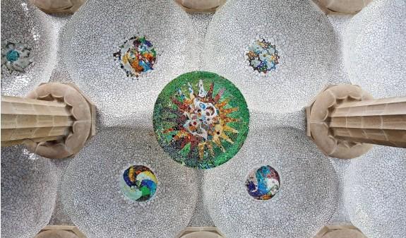 Techo Sala Apostila Park Guell Gaudi Dosde Publishing