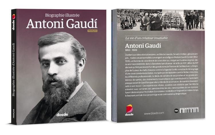 Couverture Antoni Gaudi Biographie Livre Francais Dosde